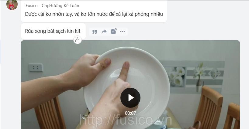 Ảnh phản hồi khách hàng nước rửa bát 3M Thái Lan