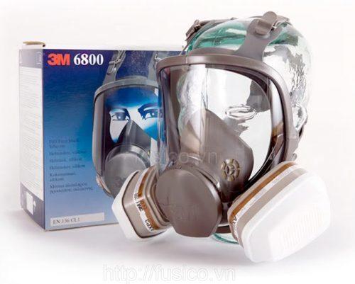 Bao bì mặt nạ phòng độc nguyên mặt 3M 6800
