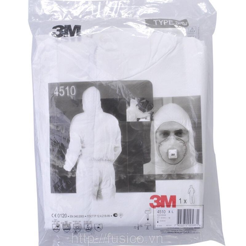 Bao bì Quần áo bảo hộ toàn thân 3M 4510