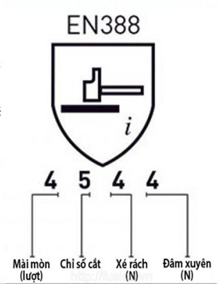 Cách đọc tiêu chuẩn trên găng tay EN388