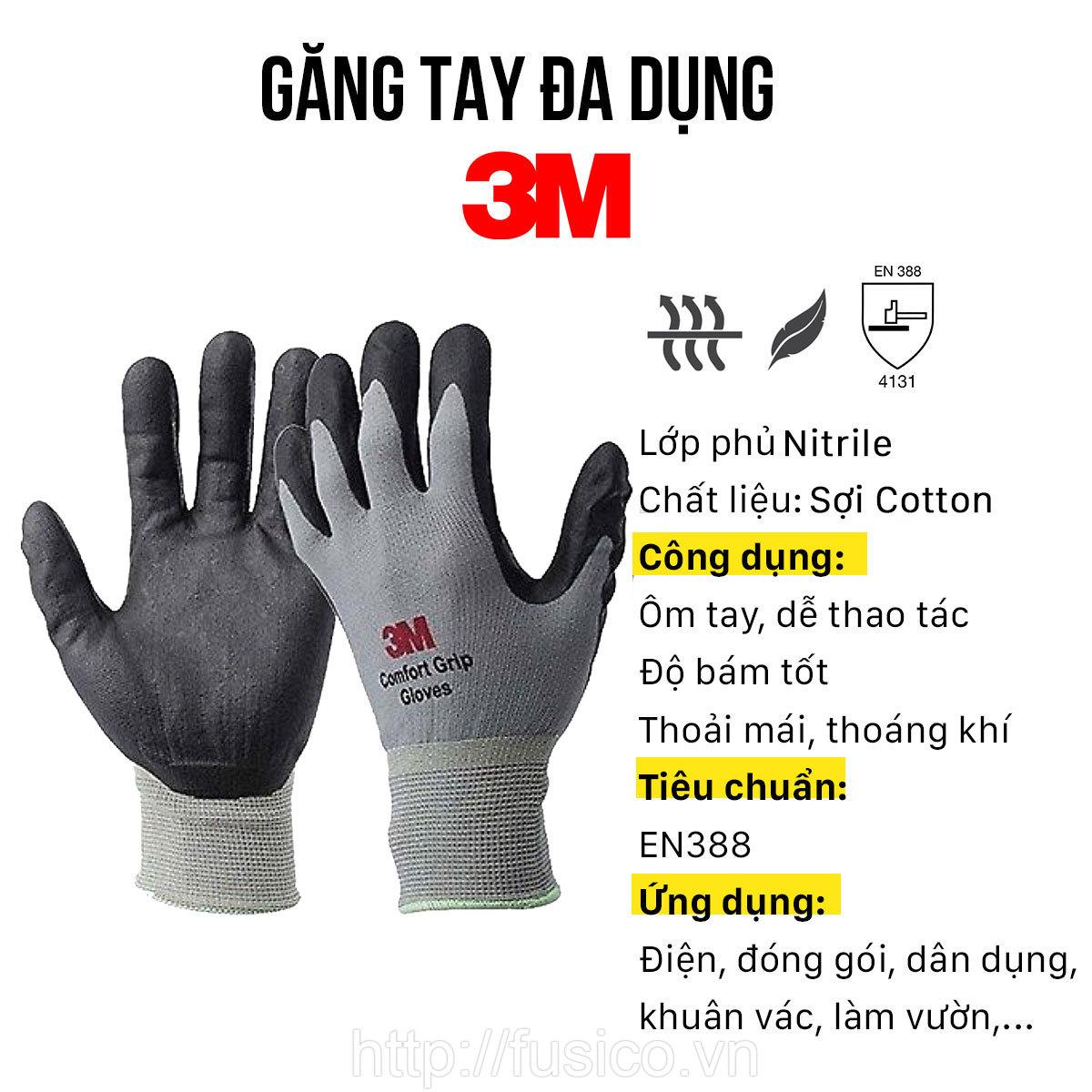 Cấu tạo găng tay đa dụng 3M