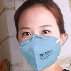 Khẩu trang 3m 9033 có thiết kế ôm khít khuôn mặt