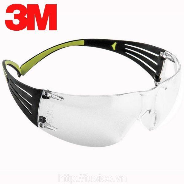 Kính bảo hộ 3M SF401AF chống bụi chống tia UV chống đọng sương chống trầy xước (màu trắng)