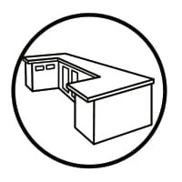 Sử dụng miếng chùi 3M 74 vệ sinh mặt bàn