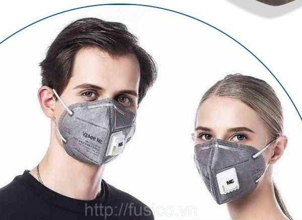 Thiết kế khẩu trang 3m 9542v ôm khít khuôn mặt