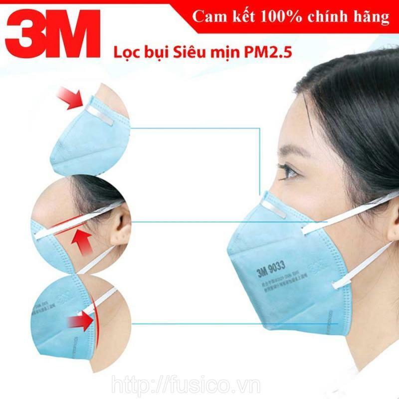 Thiết kế khẩu trang 3M 9033 kín mũi