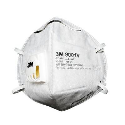 Khẩu trang 3M 9001V P1 lọc ít nhất 80% bụi mịn,vi khuẩn, vi rút