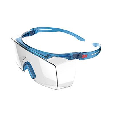 Kính bảo hộ 3M SF3701ASGAF chống bụi, chống tia UV99.9%, chống đọng sương, chống trầy xước (màu xanh dương)