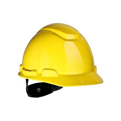 Mũ bảo hộ 3M H-702R màu vàng, giảm chấn dạng nút vặn 4 điểm nối