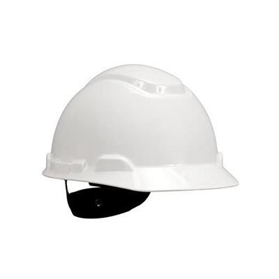 Mũ bảo hộ 3M H-701R màu trắng, giảm chấn dạng nút vặn 4 điểm nối